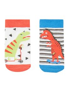 Joules Baby Shark and Crab 2 Pack Socks
