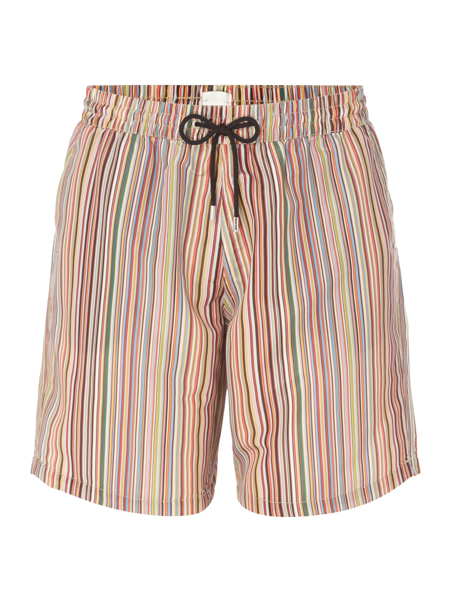 Men's Paul Smith Long Multistripe Swim Shorts, Multi-Coloured