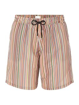 Long Multistripe Swim Shorts