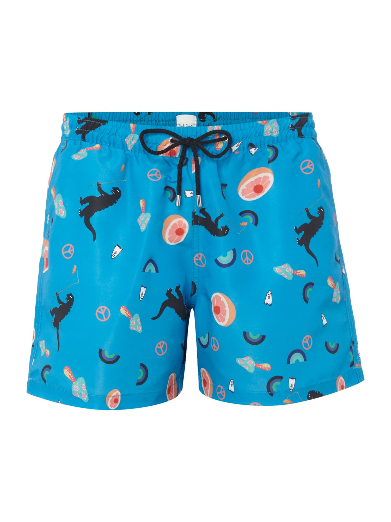 Men's Paul Smith All Over Classic Motif Swim Shorts, Blue