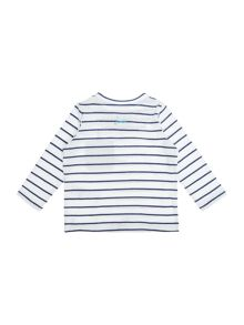 Joules Baby Stripe Shark Pocket Long Sleeve T-Shirt