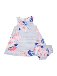 Joules Baby Girl Woven Stripe Floral Dress