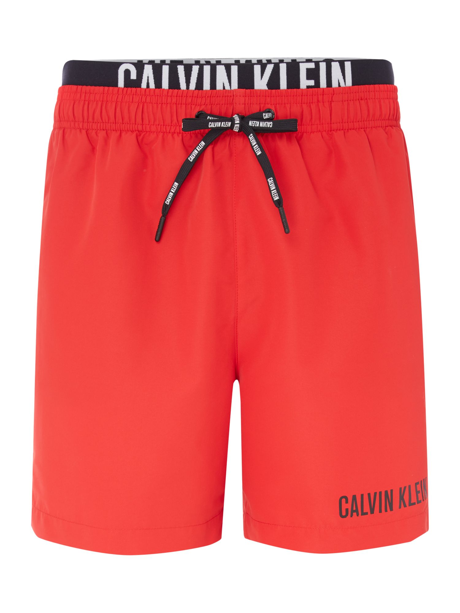 Men's Calvin Klein Double Waistband Swim shorts, Red