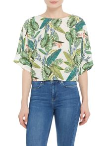 Salsa Palm tree tunic top