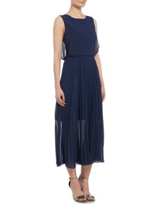 Lost Ink Rebecca sleeveless pleated detail maxi