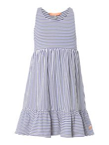 Joules Girls Sleeveless Stripe Summer Dress