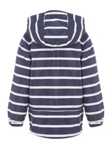 name it Boys Striped Hooded Jacket