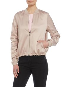 Lost Ink Long sleeve satin bomber