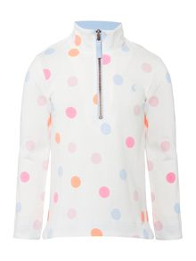 Joules Girls Half Zip Spot Sweater