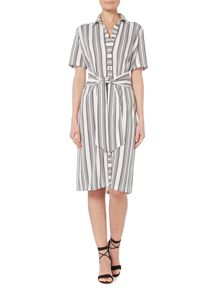 Linea Tie front shirt dress