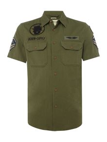 Denim and Supply Ralph Lauren Short-Sleeve Army Shirt