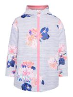 Joules Girls Stripe Floral Rubber Coat