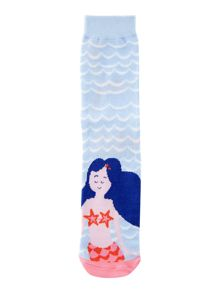 Joules Girls Mermaid Waves Socks