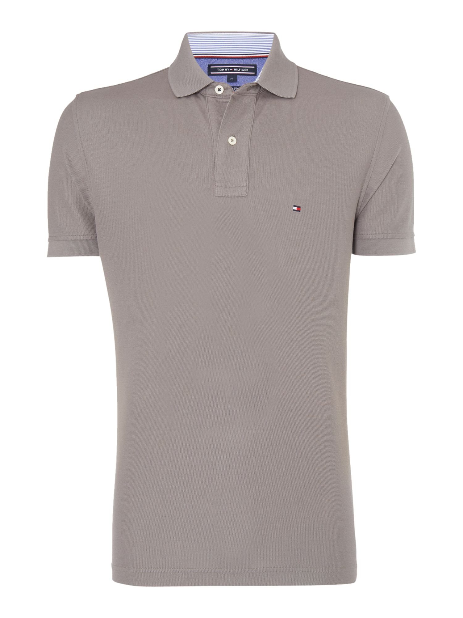 Men's Tommy Hilfiger Regular fit performance polo top, Dark Grey