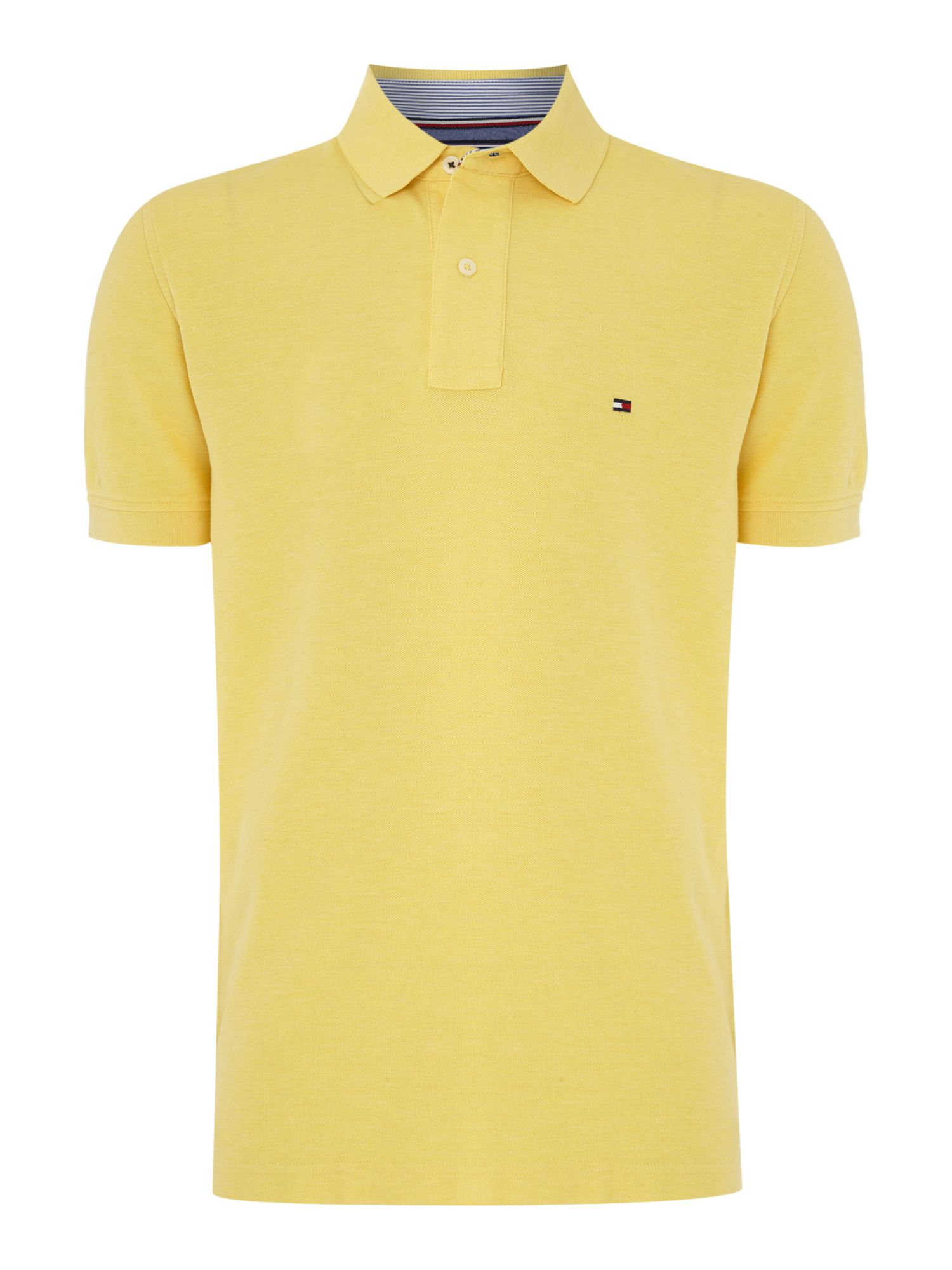 Men's Tommy Hilfiger Regular fit performance polo top, Yellow