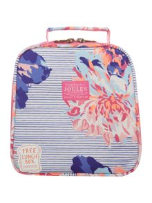 Joules Girls Floral Stripe Lunch Bag