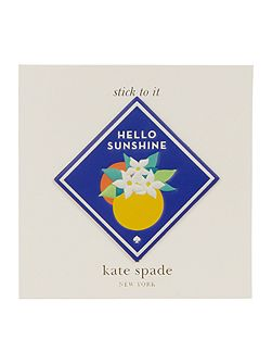 Ashe place hello sunshine sticker