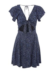 Denim and Supply Ralph Lauren Bow Front Short Sleeve Dress in Emilie Floral