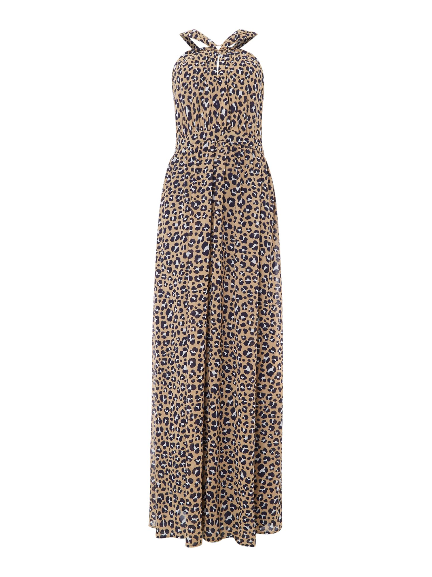 Michael Kors Sleeveless ring detailed maxi dress, Khaki