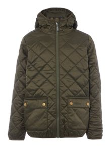 Barbour Boys Hooded Quilted Patch Pocket Jacket