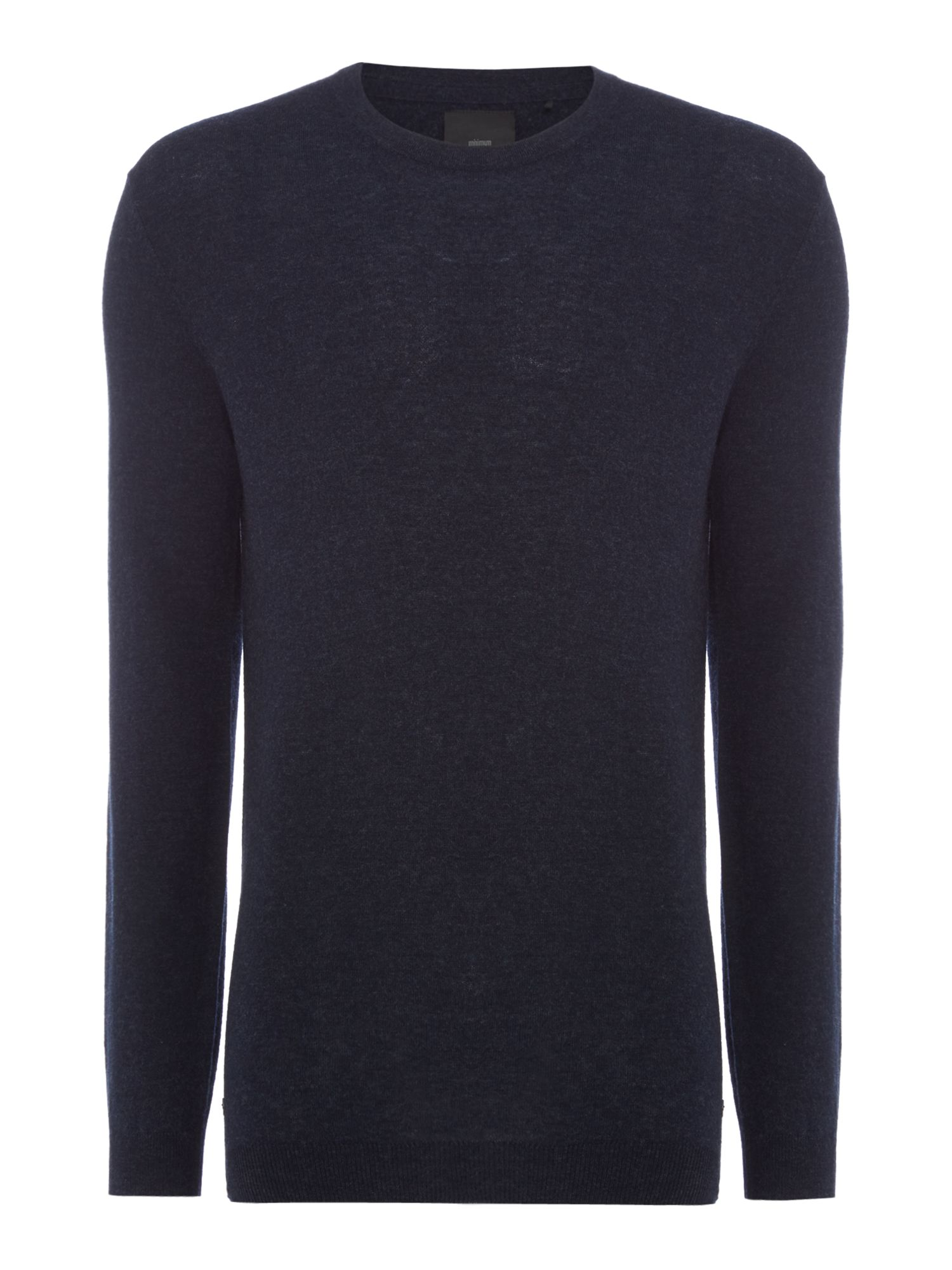 Men's Minimum Knitted Long Sleeved Pullover, Dark Blue