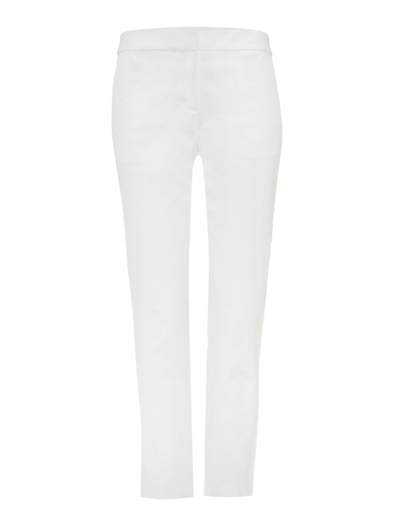 Michael Kors Cropped tapered cigarette trouser, White