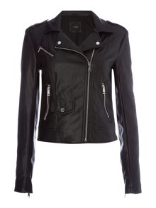 Guess Faye Faux Leather Biker Jacket