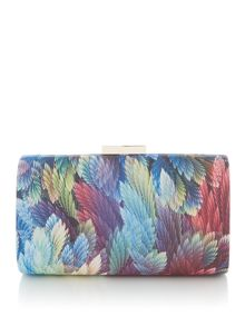 Olga Berg Leaf clutch bag