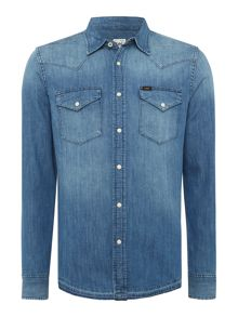 Lee Light Wash Denim Western Shirt