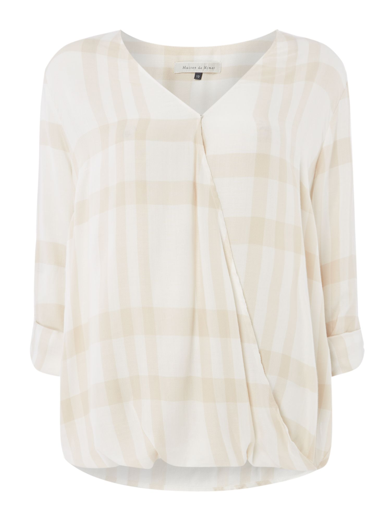 Maison De Nimes Oak Check Wrap Shirt, Neutral
