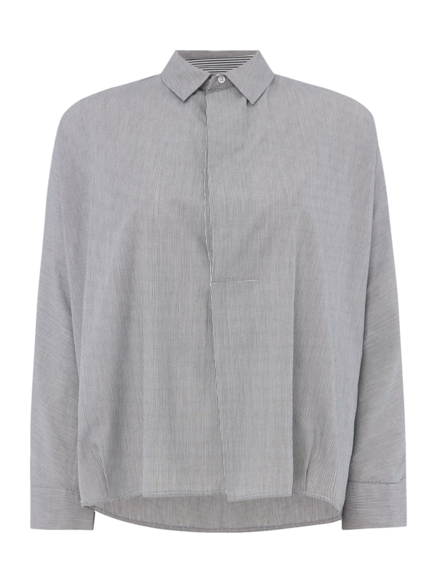 Maison De Nimes Jakki Poplin Stripe Mix Shirt, Grey