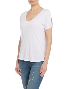 True Religion Low v neck teeshirt