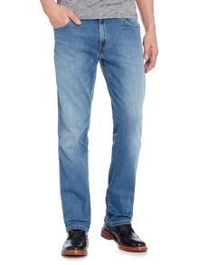 Wrangler Texas tapered fit light wash jeans