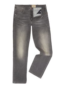 Wrangler Arizona straight fit grey jeans