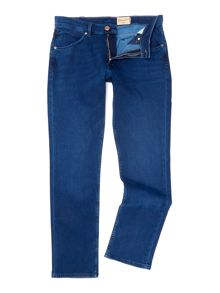 Wrangler Greensboro straight fit mid wash jeans