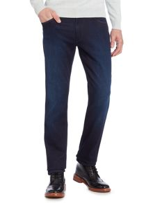 Wrangler Greensboro straight fit dark wash jeans