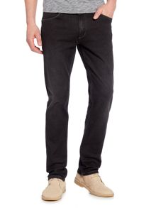 Wrangler Greensboro straight fit black jeans