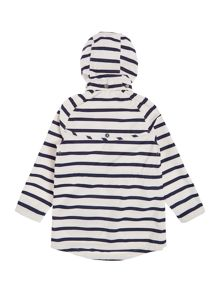Barbour Girls Hooded Waterproof Stripe Jacket