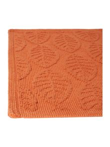 Dickins & Jones Maple leaf jacquard bath mat, Burnt orange