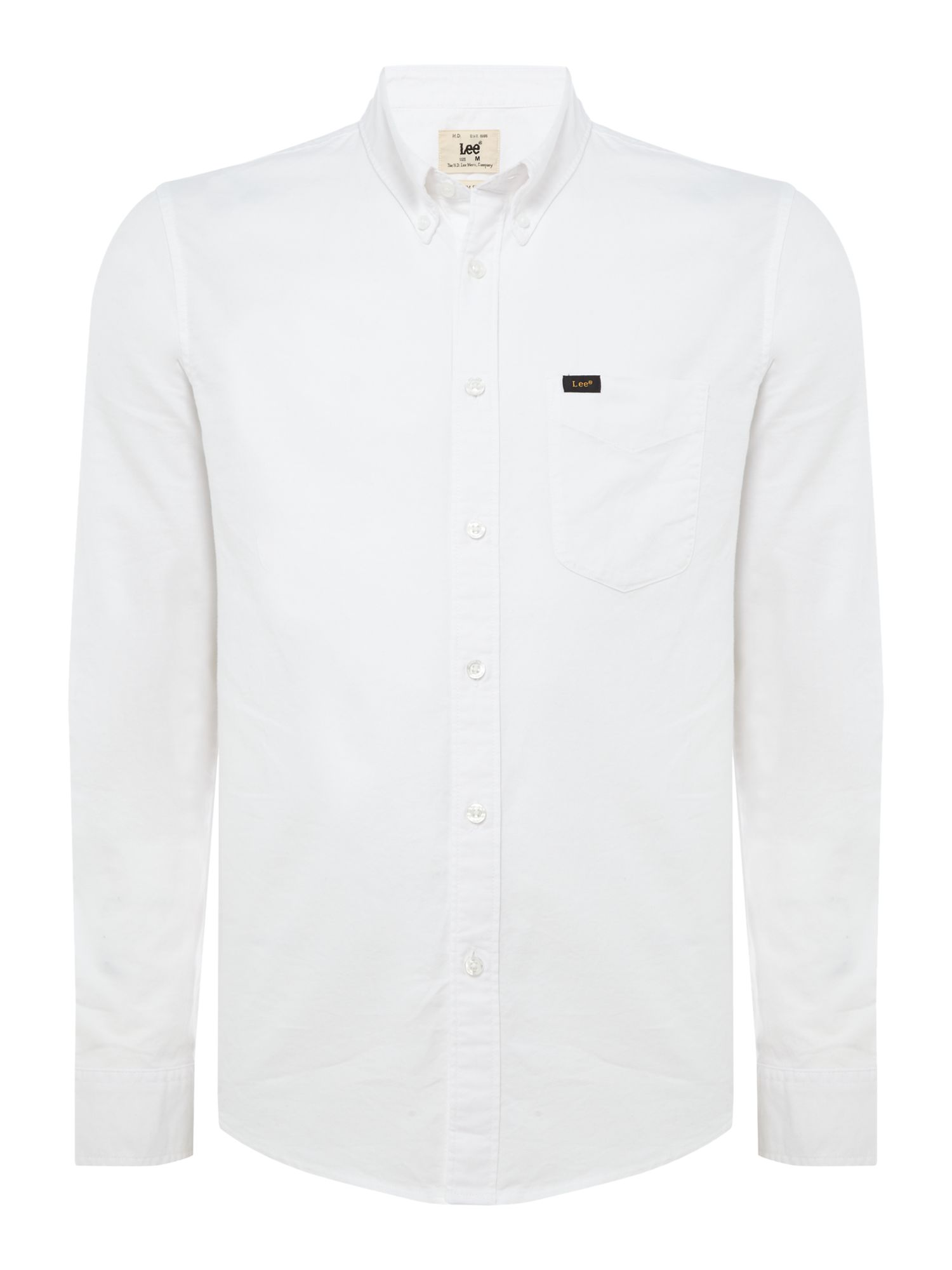 Mens Slim Fit Button Down Shirt, White