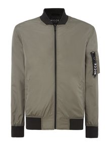 Nicce Zip-Up Bomber Jacket