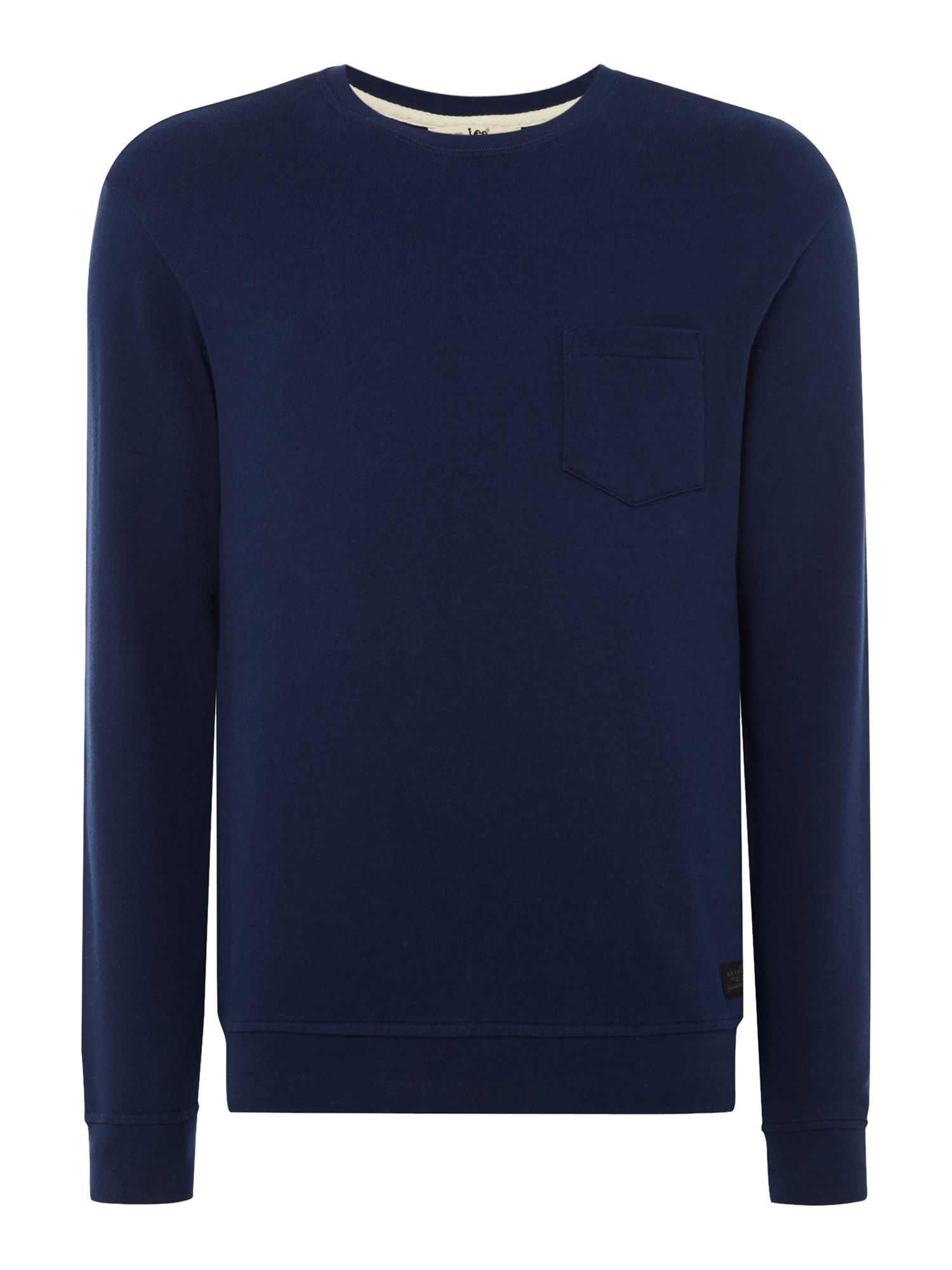Men's Lee Indigo Pocket Sweatshirt, Indigo