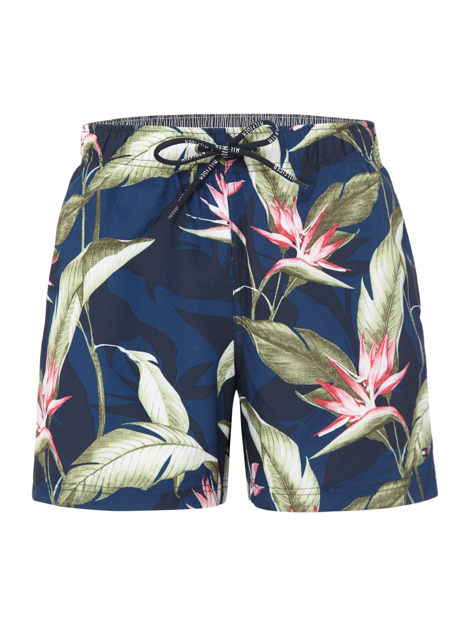 Men's Tommy Hilfiger Paradise Flower Print Swim Shorts, Blue