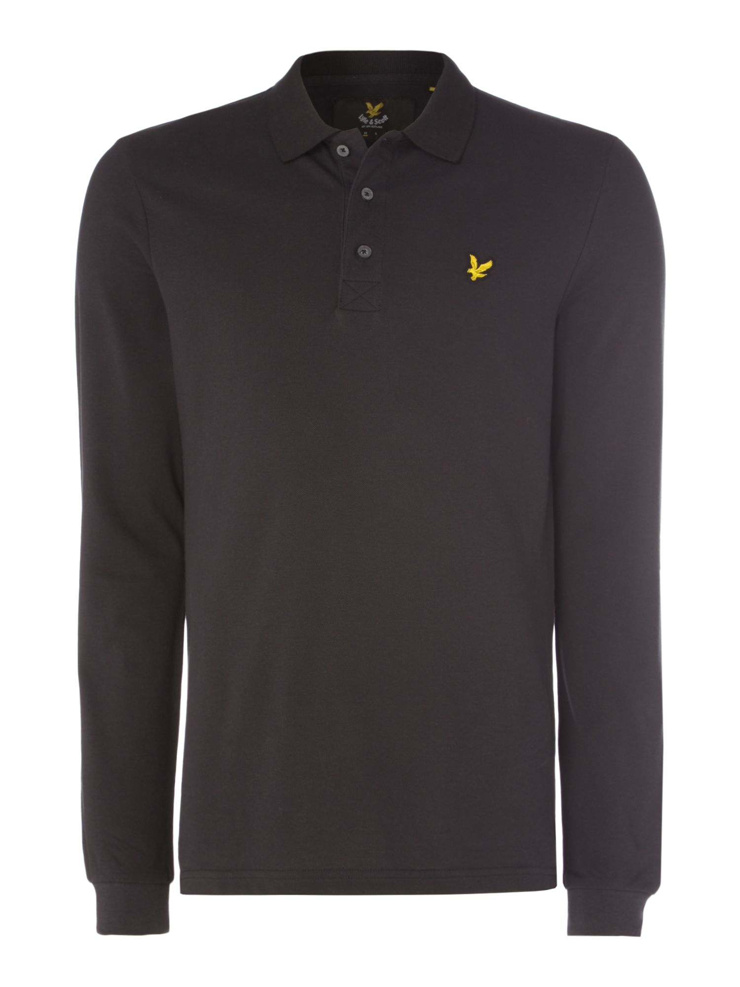 Men's Lyle and Scott Long Sleeve Classic Polo, Black