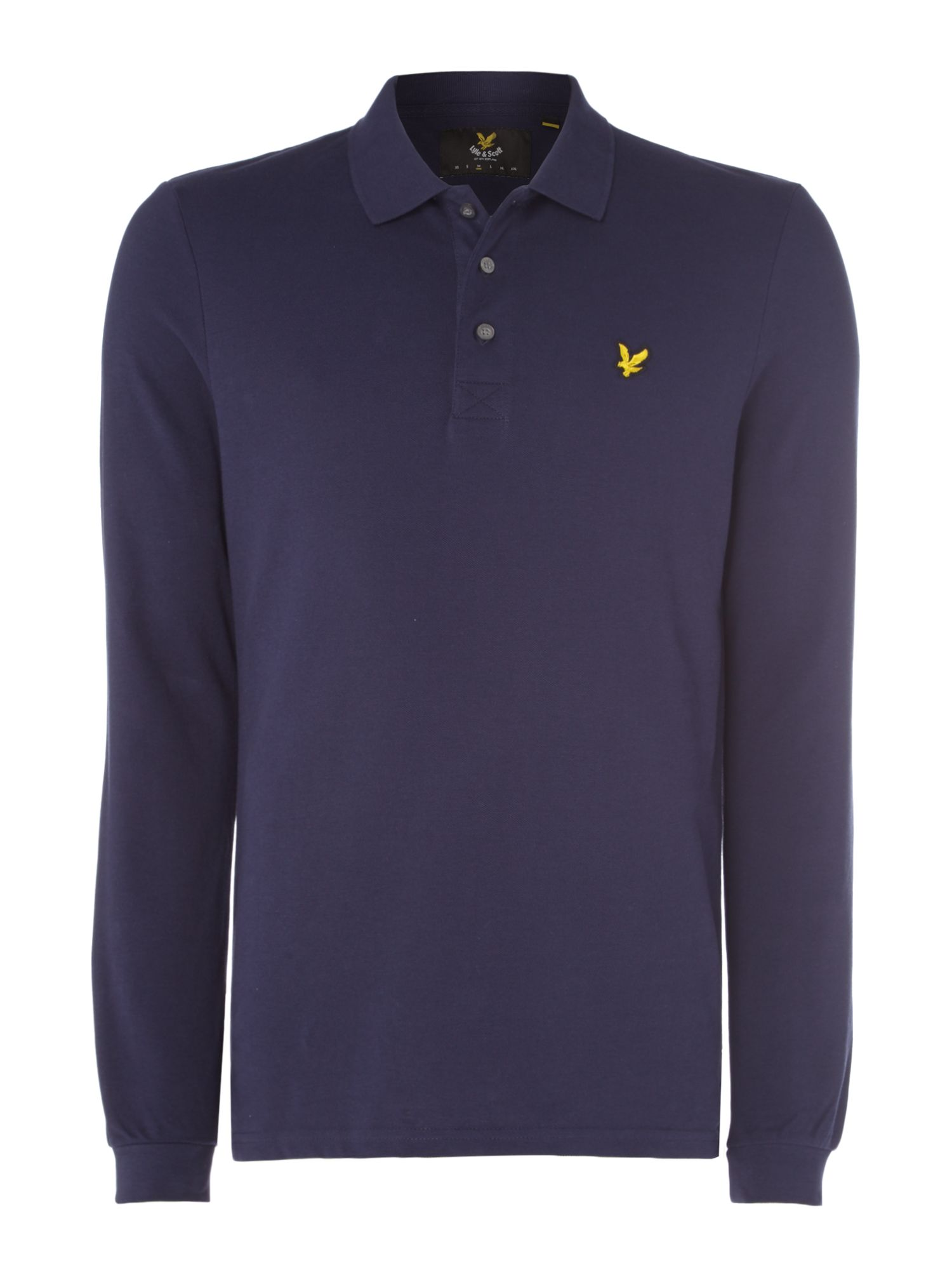 Men's Lyle and Scott Long Sleeve Classic Polo, Blue