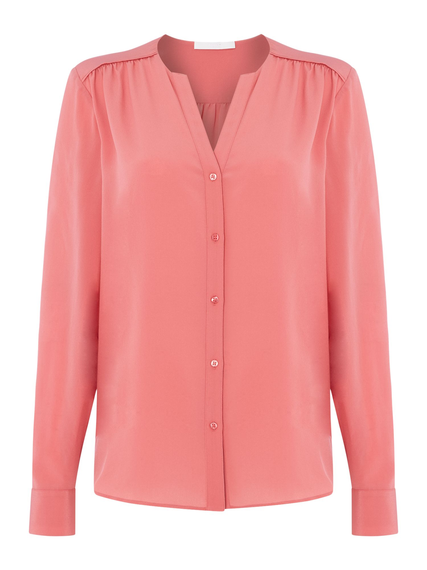 Hugo Boss Rosafina bottom through blouse, Pink