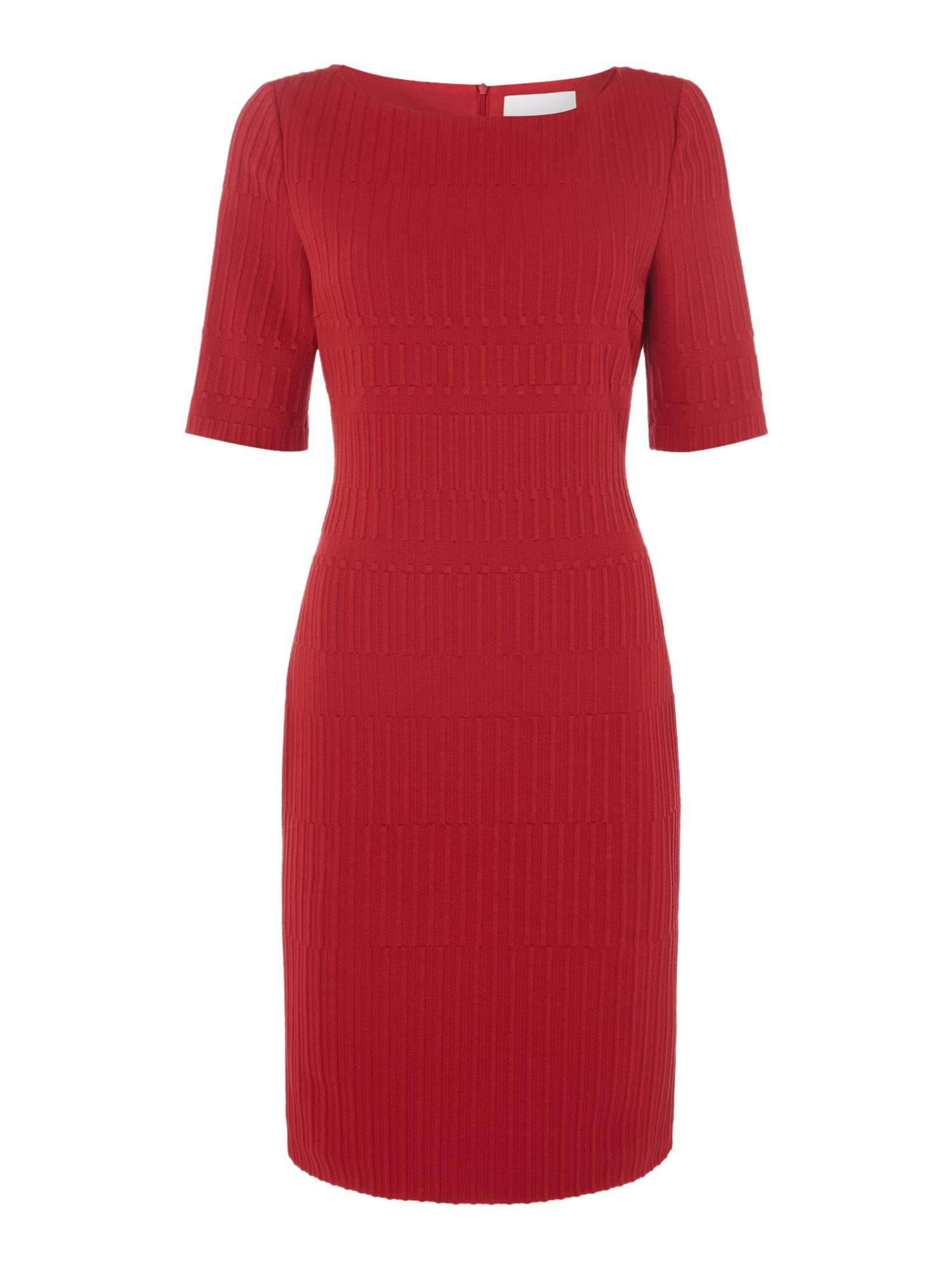 Hugo Boss Hadea grid print dress, Red