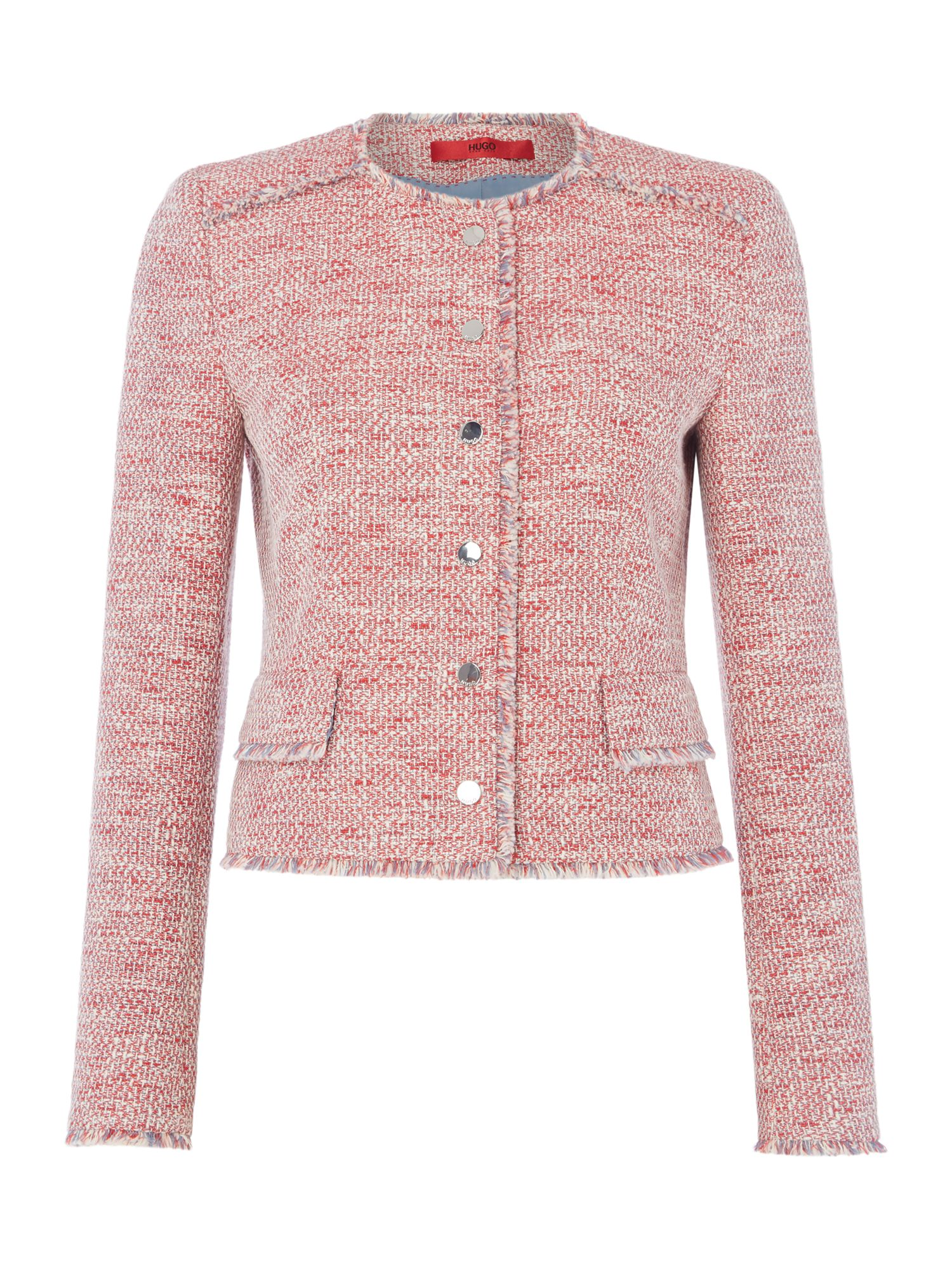 Hugo Longsleeve textured button front jacket, Multi-Coloured