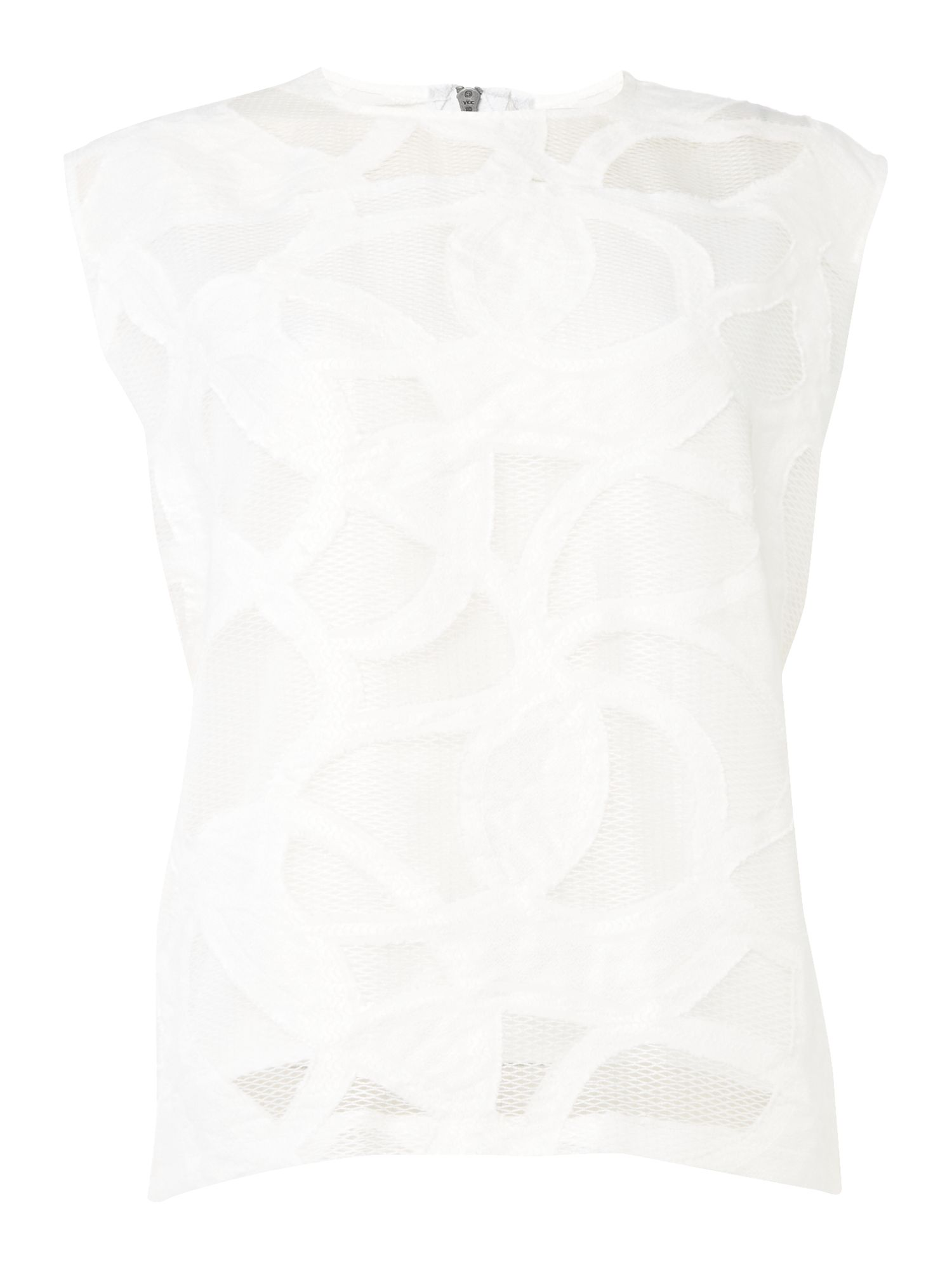 Label Lab Imali Cutwork Top, White
