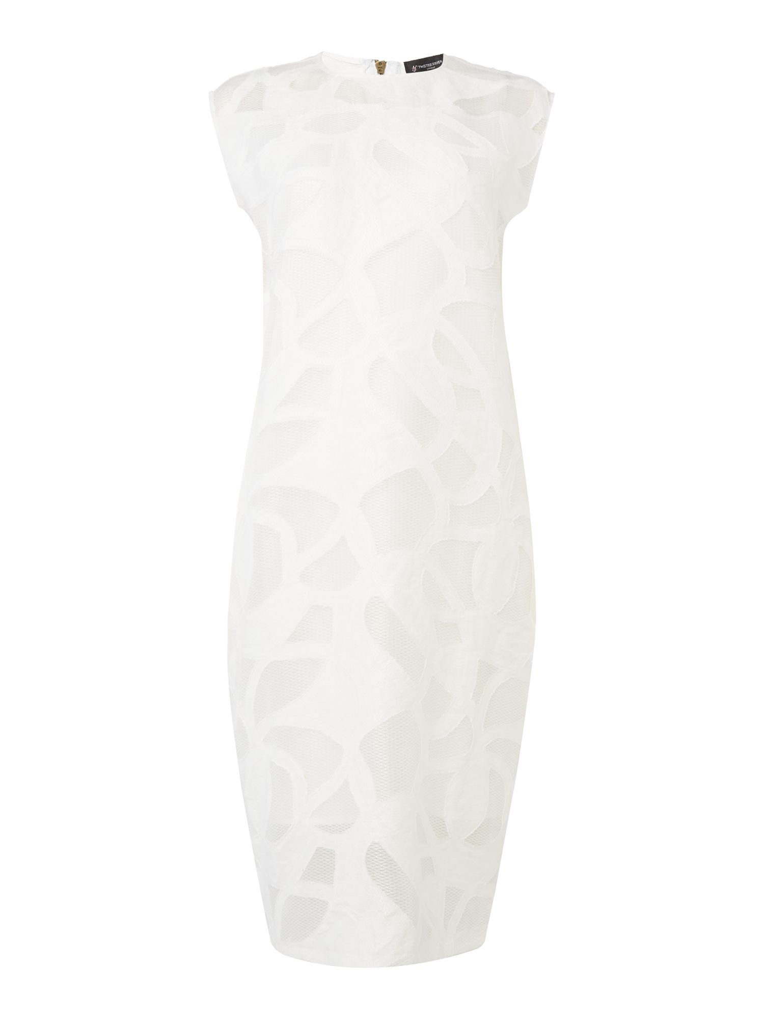 Label Lab Idalia Cutwork Dress, White